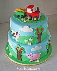 farm animals cake - Buscar con Google