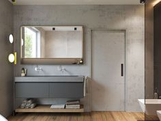 Modern small bathroom design with walk in shower with bathroom vanity ideas double sink The clean and tidy bathroom will provide a comfortable shower Master Bathroom Vanity, Rustic Bathroom Vanities, Vanity Sink, Bathroom Interior, Bathroom Ideas, Small Double Sink Vanity, Double Sink Bathroom, Bathroom Small, Basement Bathroom