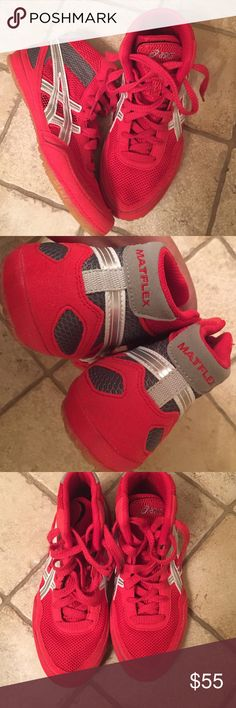 Early BFSKids (Boys)Asics Red/White Tennis Shoes Kids (Boys) Asics Red/White Hightop Tennis Shoes Excellent Condition Shoes