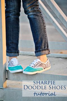 Doodle Shoes- use Sharpies to pep up a cheap pair of canvas shoes for pennies! | Dandelion Drift