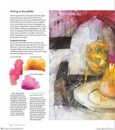 Mixing on the palette. Watercolour Tutorials, Watercolor Techniques, Painting Tutorials, Painting Tips, Watercolour Painting, Watercolor Flowers, Watercolors, Shirley Trevena, Magazine Design Inspiration