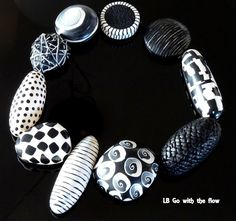 Handmade, Necklace, Clay, Handcraft, Hobby Black&White