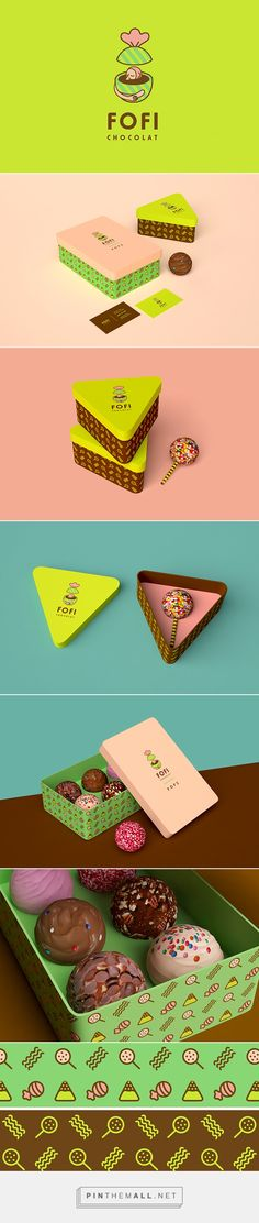 #branding #wordmark Fofi chocolat by Io Anto | I love the branding package. It's colorful, simple, and very creative. The wordmark is very simple but the colors make it special.