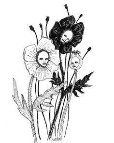 williamcrisafi:The Poppies (at Salem, Massachusetts)… williamcrisafi: Die Mohnblumen (in Salem, Massachusetts) … Creepy Art, Weird Art, Art Sketches, Art Drawings, Creepy Sketches, Weird Drawings, Vogel Illustration, Tattoo Illustration, Arte Horror