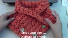 Patrones Crochet: Bufanda Cuello Paso a Paso Tutorial