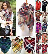 Women Blanket Oversized Tartan Scarf Wrap Shawl Plaid  Pashmina Bloggers Favor