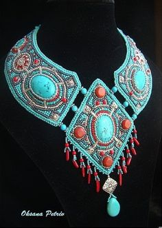 Beautiful Jewelry Oksana Petriv - her work is amazing! - Oksana Petriv is beadwork artist from Ukraine. She makes beautiful jewelry in bead embroidery technic. I Love Jewelry, Clay Jewelry, Jewelry Art, Fashion Jewelry, Jewelry Making, Jewellery, Bead Embroidery Jewelry, Beaded Jewelry Patterns, Beaded Embroidery