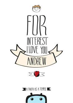 Por interés te quiero Andres