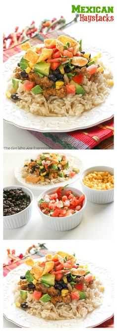 Mexican Haystacks! A twist on a classic. Great for a crowd! the-girl-who-ate-everything.com