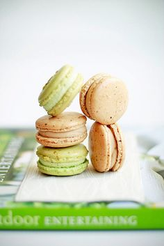 Coffee & Pistachio Macarons by bossacafez, via Flickr
