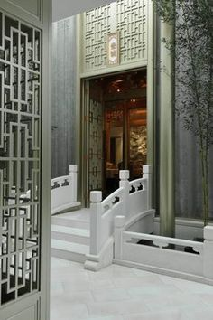 Chinese/japanese hotel designs hall/entree .