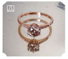 Beholden • Custom Pink Champagne Hazeline As with all of our muses + jeweled namesakes, the Hazeline rings can be imagined in an infinite array of options including metal color, diamond color,...