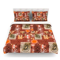 East Urban Home Vintage Kitchen by Jane Smith Featherweight Duvet Cover Size: Queen