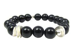 InTu jewelry | InTuition armband Onyx zilver