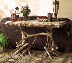Elk Antler Console Sofa Table