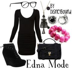 Disney Clothes edna mode (from the incredibles) Disney Inspired Fashion, Character Inspired Outfits, Disney Fashion, Disney Bound Outfits, Disney Dresses, Disney Clothes, Edna Mode, Estilo Disney, Fandom Outfits