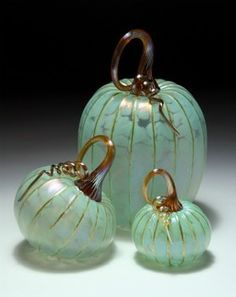 'Celadon Green Pumpkin Set' - by Jack Pine