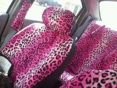 I would totally rock the pink cheetah seat covers! likes & l Pink Cheetah, Cheetah Print, My Dream Car, Dream Cars, Princess Car, Girly Car, Barbie, Shabby, Pink Animals