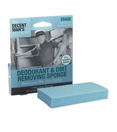 The Decent Man's Grooming Tools-Deodorant and Dirt Removing Sponge