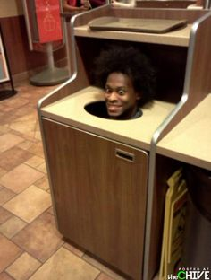 Can you imagine going to throw your food away and this is staring back at you?