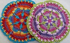 Kaleidoscope Mandala Motif By Da's Crochet Connection - Free Crochet Pattern - (dascrochetconnection.blogspot)