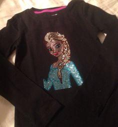 Elsa from Frozen Rhinestone Shirt  on Etsy, $27.00