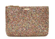 love my new insanely sparkly glittered kate spade clutch.