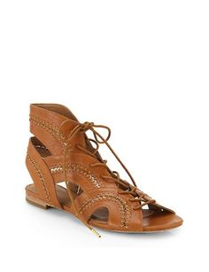 JOIE Toledo Leather Lace-Up Sandals