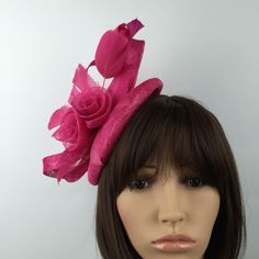 Updates from on Etsy Hair Fascinators, Pink Fascinator, Fascinator Hairstyles, Ladies Hats, Hats For Women, Wedding Hats, Wedding Jewelry, Occasion Hats, Fancy Hats