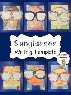 Holiday Writing Sunglasses Template FREEBIE