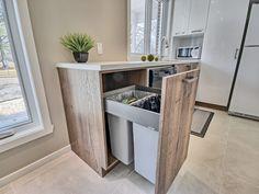 cuisine ail des bois - Fines Cuisines New Kitchen, Kitchen Decor, Kitchen Design, Small Studio, Sweet Home, House Design, Bar, The Blanc, Architecture Renovation