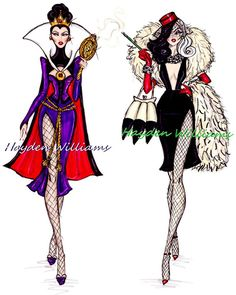 Fashion Disney illustrations - Hayden Williams. I think they looking so powerful!!!
