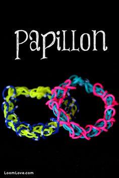 How to Make the Rainbow Loom Papillon Bracelet #rainbowloom