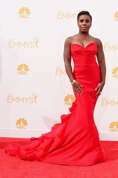 15 Most Glamorous Gowns at the Emmys 2014 Uzo Aduba in Christian Siriano