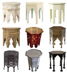 Moroccan tables -- details to appear on vanity