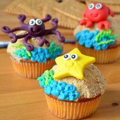 Babeczki morskie zwierzątka / Sea creatures cupcakes / ciastkozercy