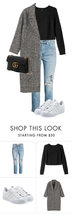 """This could be like a revelation"" by pageslearntothink on Polyvore featuring H&M, Monki, adidas Originals and Gucci"