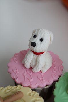 dog cupcake topper