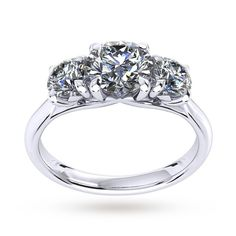 Mappin & Webb Ena Harkness Three Stone Engagement Ring 1.20 Carat Total Weight | Rings | Jewellery | Goldsmiths