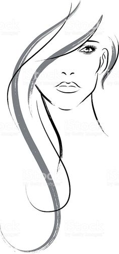Long haired woman royalty-free long haired woman stock vector art & more images of adult Pencil Art Drawings, Art Drawings Sketches, Silhouette Art, Drawing Techniques, Free Vector Art, Hair Art, Ink Art, Female Art, Collage Art