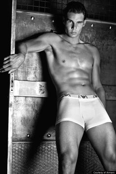 Rafael Nadal....yeees please can't believe there's a photo of him without his racquet but this will do very nicely