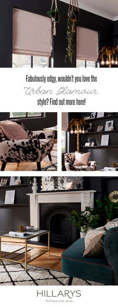 Bring a touch of Urban Glamour into your home. With some surprising colour combinations, create a dramatic interior to be proud of. Room, Home Furnishings, Home, Living Room Decor, Room Inspiration, House Interior, Home Decor Mirrors, Interior Design, Home And Living