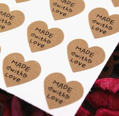 made with love stickers #packaging