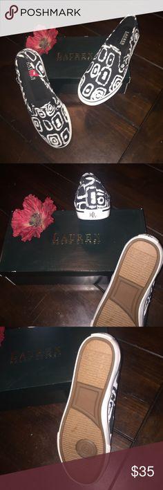 Ralph Lauren 🌹 NEW Cotton Shoes Tribal Print Cotton Cancas Slides Ralph Lauren Shoes Sneakers