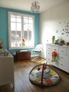 Blue Walls, Kids Bedroom, Room Inspiration, Baby Room, Room Decor, Nursery Decor, Kids Rugs, Interior Design, Caricature