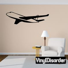 Apply this sticker to your car, truck, boat or anywhere you want. Car Decals, Vinyl Wall Decals, Sticker, Airplane, Jet, Painting, Home Decor, Plane, Decoration Home