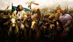 Mete'nin on altıncı göbekten torunu olan Munçuk, Kafkasya kavimlerinin hükümdarlığını kardeşi Aybars'a vermişti. Aybars, Kafkasya'da tam bir hakimiyet sağlamak maksadıyla İtil'den güneye doğru hareket etti. Bu dönemde Azak ile Kafkasya arasındaki bozkırlarda yaşayan Alanlar ve Kasoglar(Çerkesler) ile karşılaştı ve onları yenilgiye uğratarak hâkimiyeti altına aldı. Hunlar ile Alan ve Kasog ittifakı arasında geçen bu tarihî hadiseler, Kabardey Çerkeslerinin destanlarına da yansımıştır... L. G…