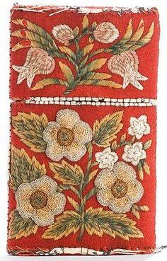 suchasensualdestroyer:    Huron (Quebec), Cigar Case, moosehair/wool/birch bark/beads, c. 1850.