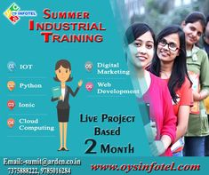 #OYSInfotel provides a 'Live Project Training' in a way of #summerindustrialtraininginJaipur. Join us and grab the opportunities.