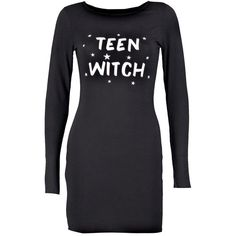 Boohoo Gracie Halloween Teen Witch Bodycon Dress ($9) ❤ liked on Polyvore featuring dresses, bodycon dress, viscose dress, boohoo dresses, body conscious dress and body con dress